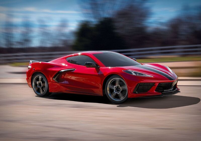 Traxxas Chevrolet Corvette Stingray: 1/10 Scale AWD Supercar with TQ 2.4GHz Radio System - Red